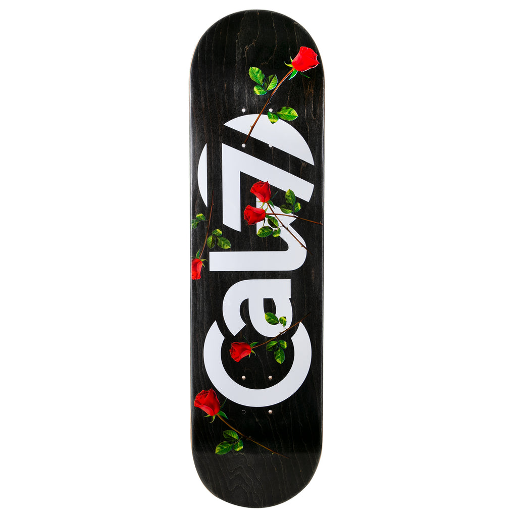 cal 7 skateboard deck with red roses