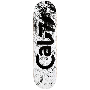 "Cal 7 Abstract 8""/ 8.25""/8.5""-Inch Skateboard Deck Black and White Spray Paint Marble Effect and Logo Design"