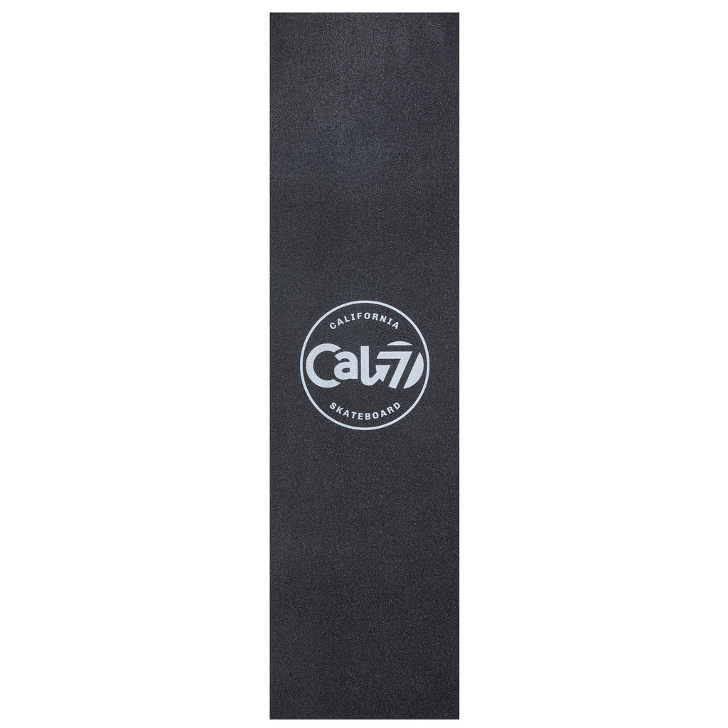 Cal 7 black skateboard griptape with Acid logo