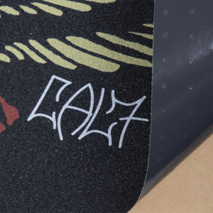 Cal 7 black skateboard griptape with eagle design
