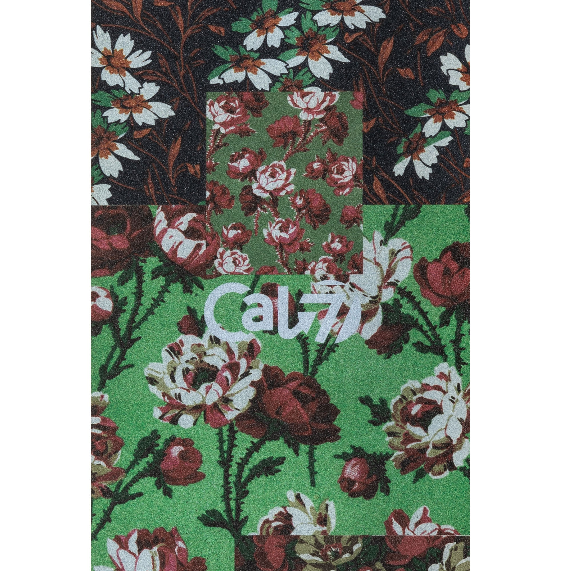 Cal 7 black skateboard griptape with flower design