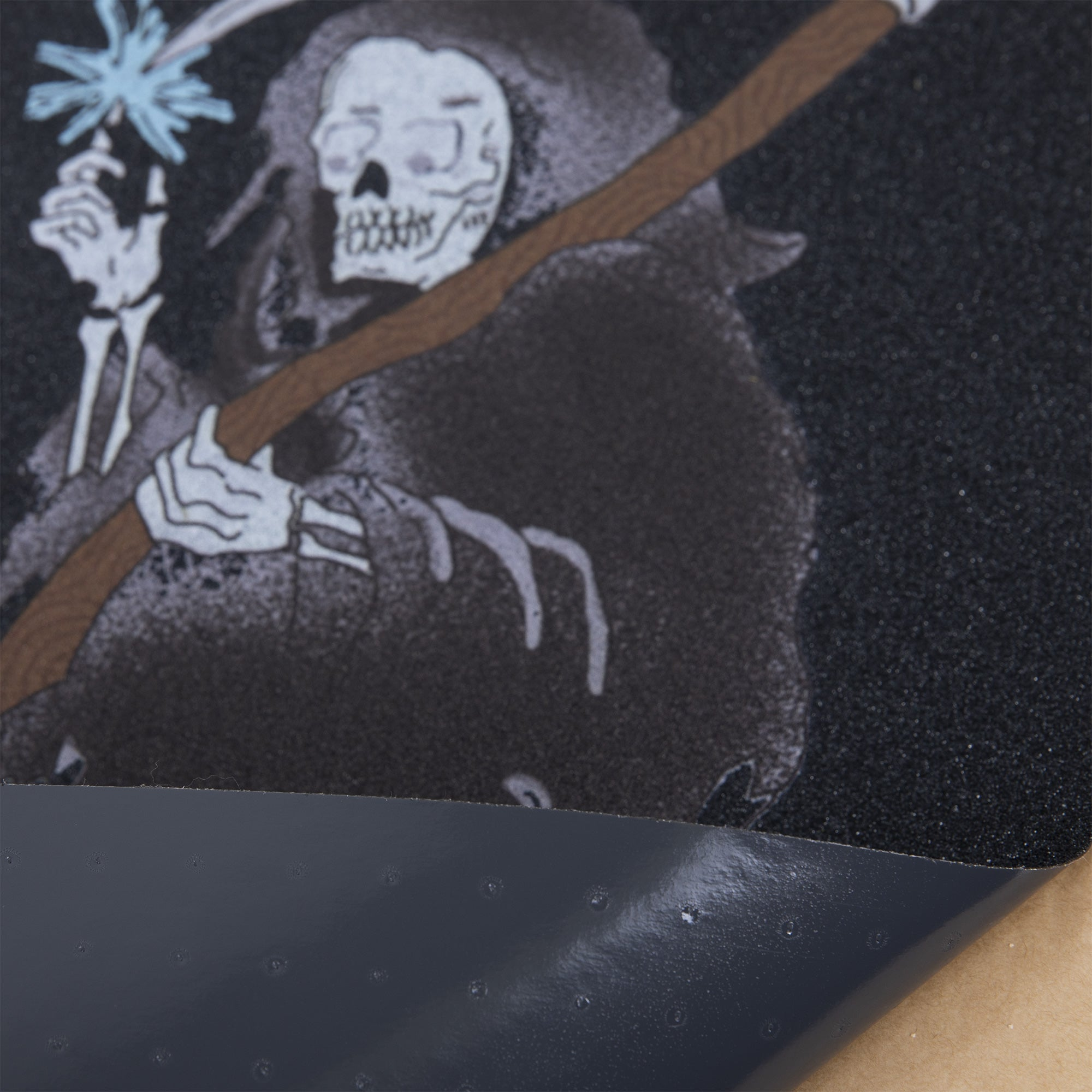 Cal 7 skateboard griptape with reaper design