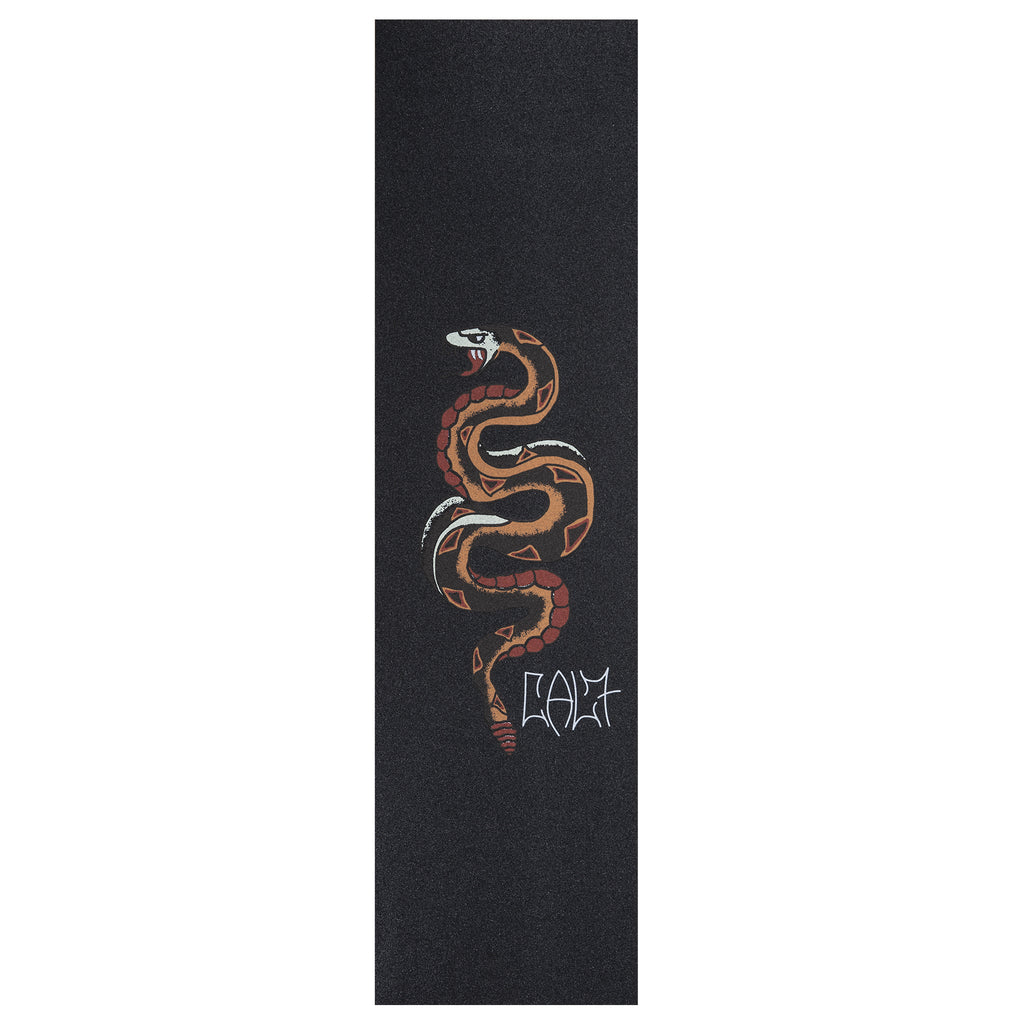 Cal 7 skateboard griptape with snake design