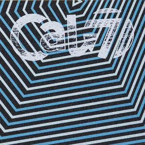 Cal 7 skateboard griptape with blue and white striped design