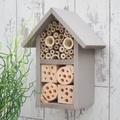 Insect House, Bee Hotel, Bug Box, Wildlife House in 'Muted Clay'. - Wudwerx