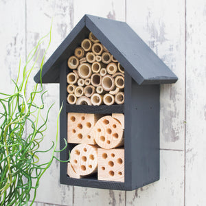 Wildlife Habitat, Bee Hotel, Insect House in 'Urban Slate'. Can be personalised.