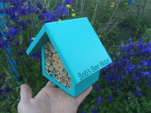 Bee Hotel, Bee House, Large, in 'Old English Green'. Can be personalised. - Wudwerx