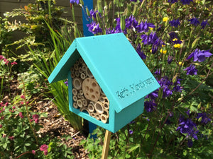 Single Tier Bee Hotel, Mediterranean Glaze, can be personalised
