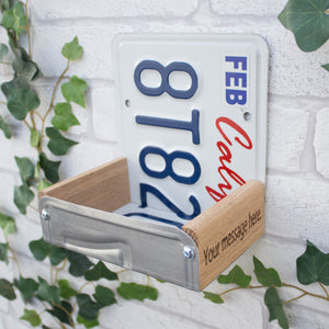 Bird Feeder, Illinois License Plate Bird Feeder, Can be personalised.