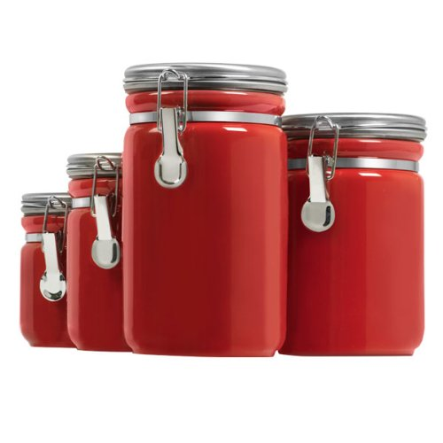 Anchor Hocking Ceramic Canister 4 PC Set