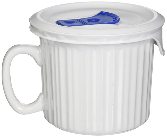 Corningware Pop-Ins Soup Mug 20 Oz, with Vented Lid (Multiple Colors)
