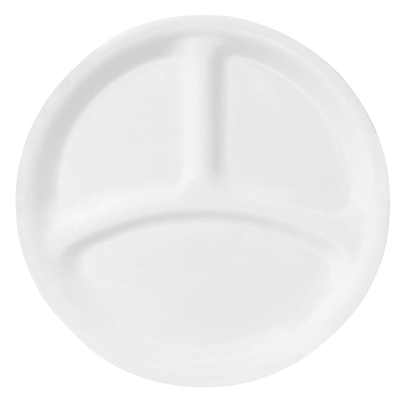 Corelle Livingware 8-1/2-Inch Divided Dish, Winter Frost White