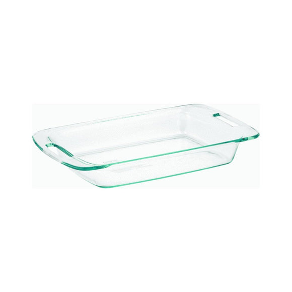 Pyrex 3-Quart Oblong Glass Bakeware Dish, Easy Grab
