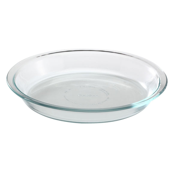Pyrex Basics 9.5 Inch Pie Plate, Clear