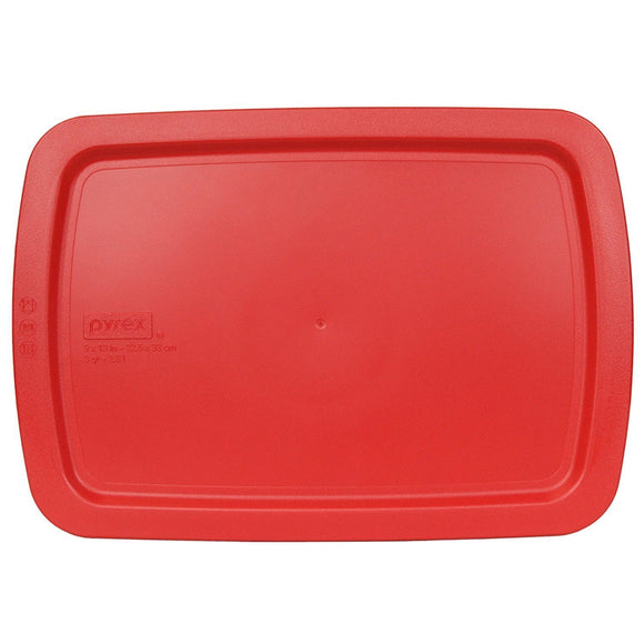 Pyrex Plastic Lid 3-Qt for Oblong Easy Grab Glass Baking Dish (Multiple Colors)