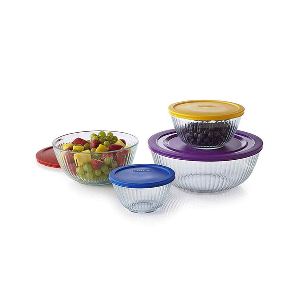 Pyrex 8-pc Sculptured Mixing Bowl Set