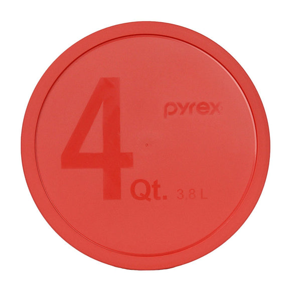 Pyrex - Red 4 Quart Mixing Bowl Lid, Round
