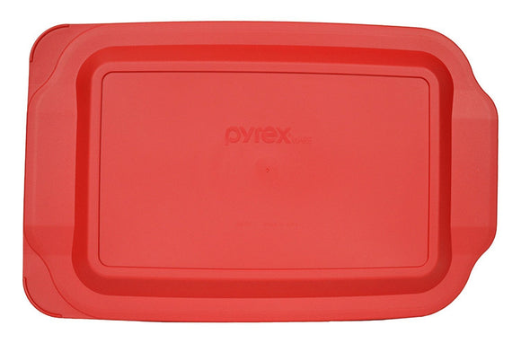 Pyrex Red Oblong Plastic Lid for Glass Baking Dish, Basics Series (Multiple Sizes)