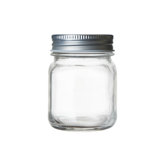 Seacoast Mason Jars, Regular Mouth With Steel Lids, (Set of 12) (5 oz)