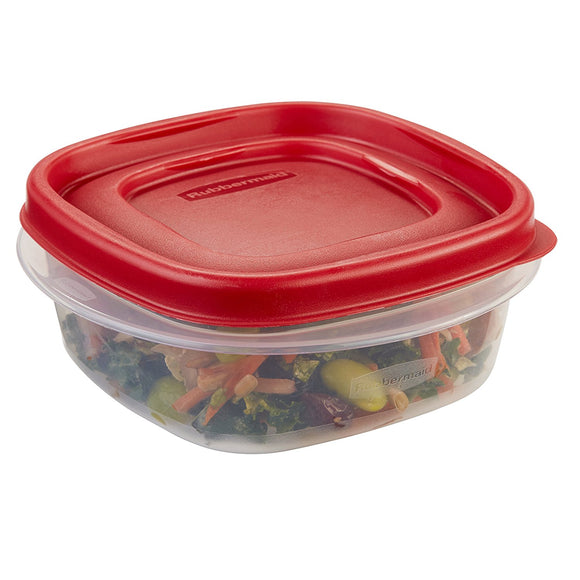 Rubbermaid 7J59 Easy Find Lid Square 1-1/4-Cup Food Storage Container