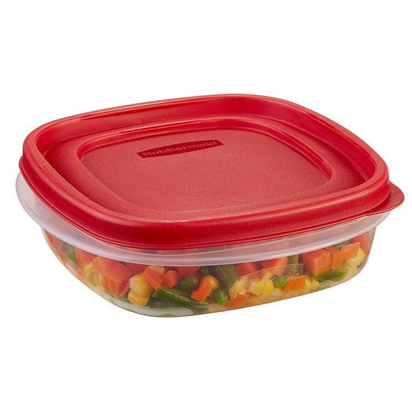 Rubbermaid 3 Cup, Easy Find Lid Food Storage Container, Square (single)