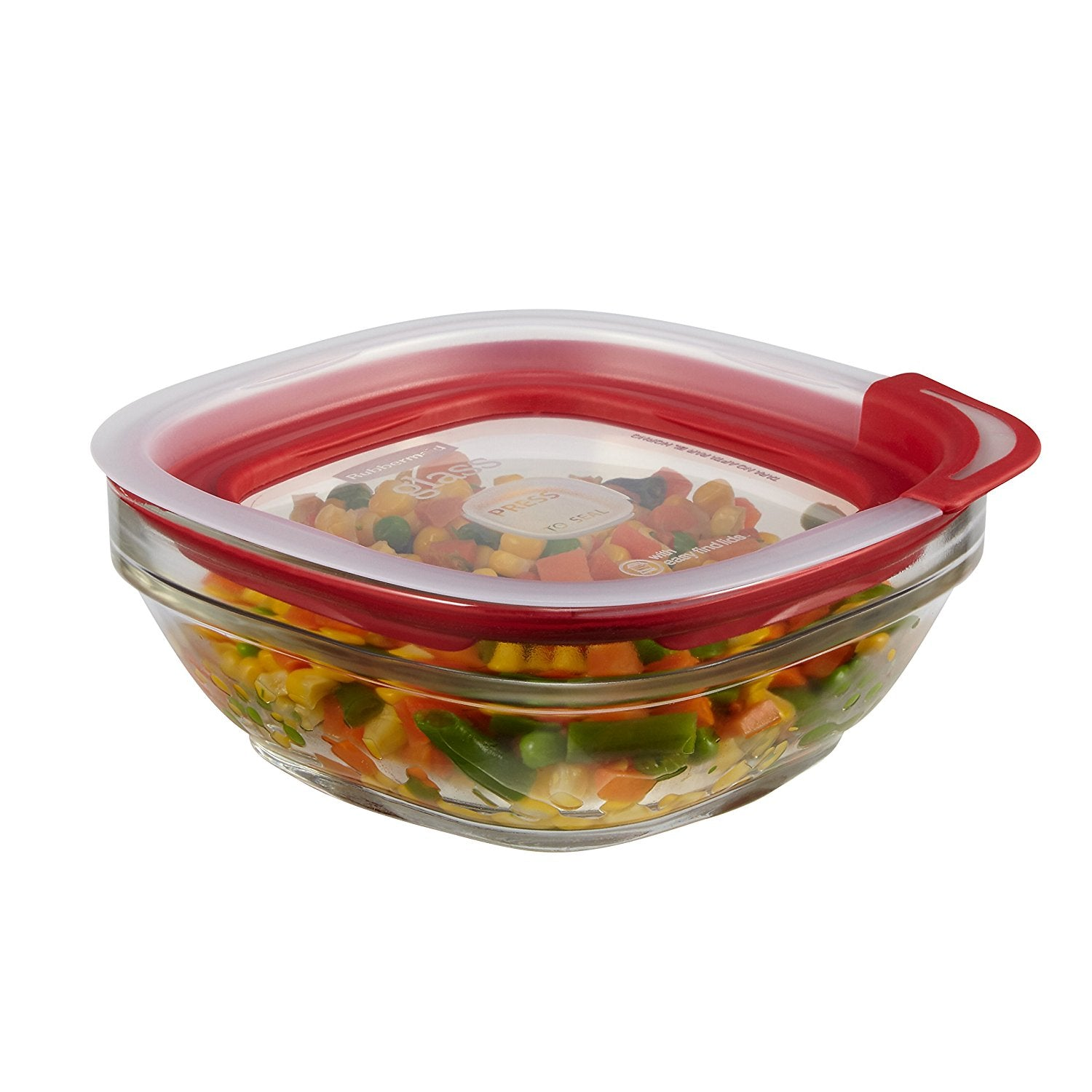 Rubbermaid 2 12 Cup Glass Food Storage Container with Easy Find Lid