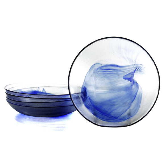 Bormioli Rocco Murano Lunch Plate, Blue, 8.6 x 1.5 Inches (Set of 6)