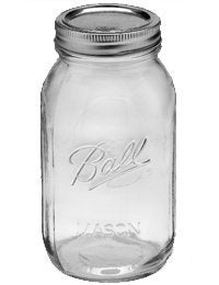 Ball 32 Oz, Regular Mouth Mason Jar, Pack of 12 (1 Quart)