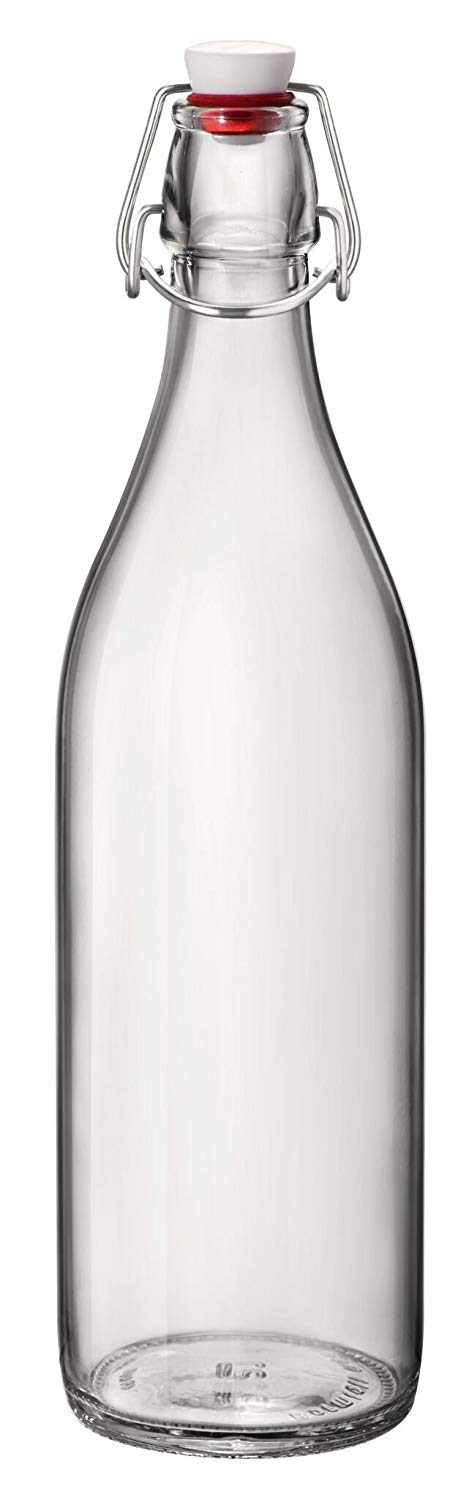 Bormioli Rocco 33.75 Oz Giara Bottle, Clear (1 Liter)