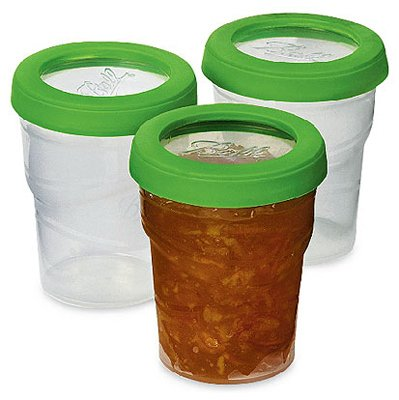Ball 8 Oz Plastic Freezer Jar, 3 pack