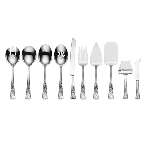 Lenox 10-piece Serving Set Holiday Nouveau 18/10 Stainless Steel