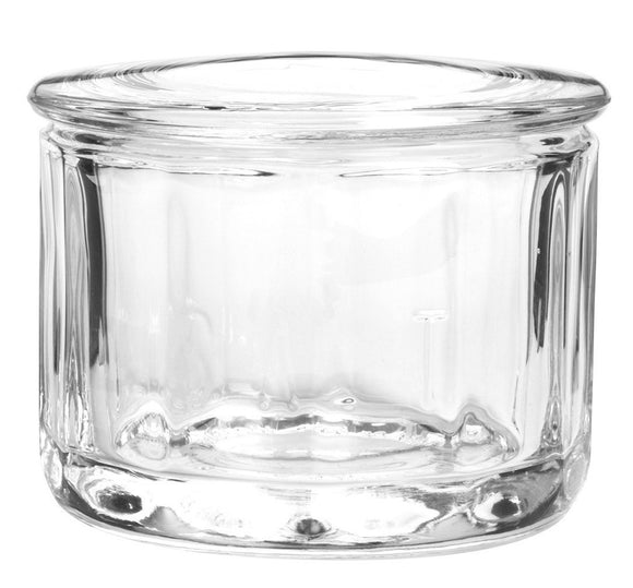 Anchor Hocking Fire-King Salt Dip with Lid, Glass, 10 Ounce
