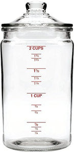Anchor Hocking Heritage Hill Graduated Storage Jar with Glass Lid, 16 Ounce