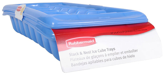 Rubbermaid Ice Cube Tray Set, 2 Trays