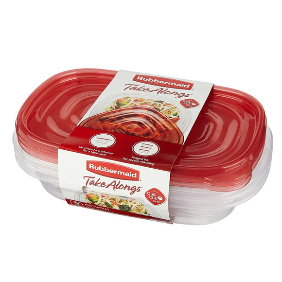 Rubbermaid 3 Piece Take Alongs™ Rectangular Containers