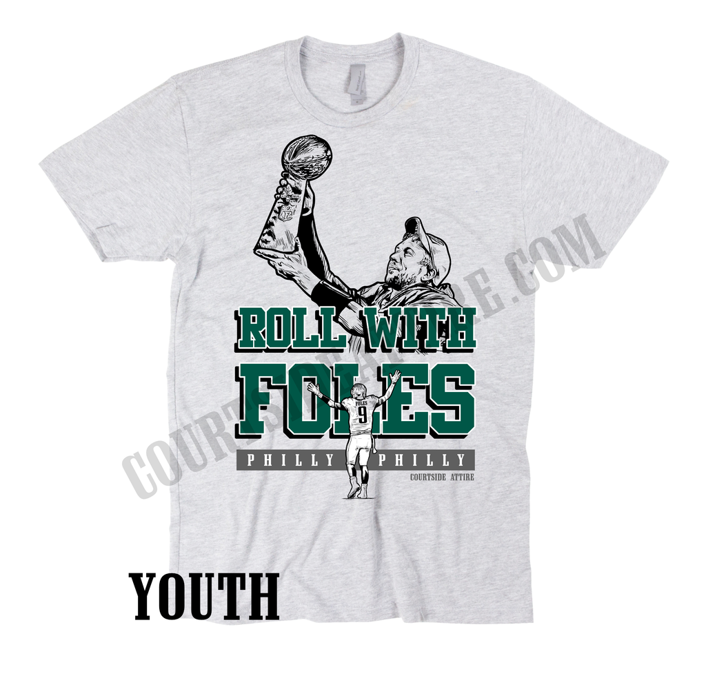 save off 88af7 823b3 Kids Nick Foles ROLL WITH FOLES philly philly youth shirt jersey