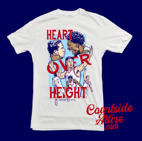 sale retailer 4e4e1 babcc TJ McConnell Heart Over Height Mens Shirt Sixers ...