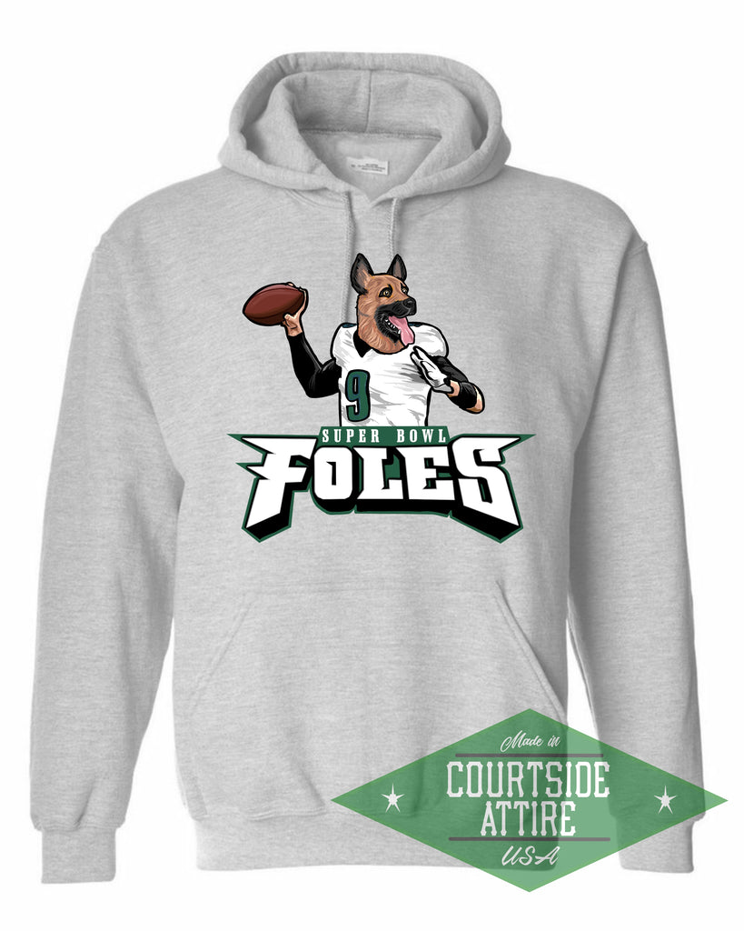 half off d8d6b 66148 Super Bowl Nick Foles Eagles Underdog Hoodie Sweatshirt Mens Philadelphia  jersey