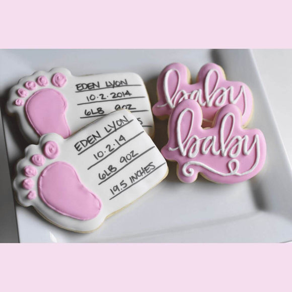 Custom Cookies - 10 Little Fingers & 10 Little Toes! (M/F) - Southern Sugar Bakery