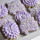 Lovely Lavender! | Decorated Birthday Cookie | Happy Birthday Plaque