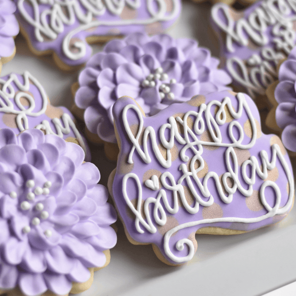 Lovely Lavender! | Decorated Birthday Cookie