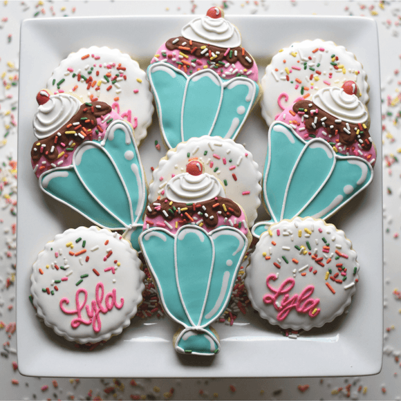 Custom Cookies - Ice Cream Sprinkles! - Southern Sugar Bakery