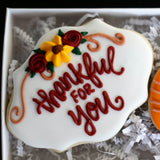 Custom Cookies - Thanksgiving Duo | Thankful For You! - Southern Sugar Bakery