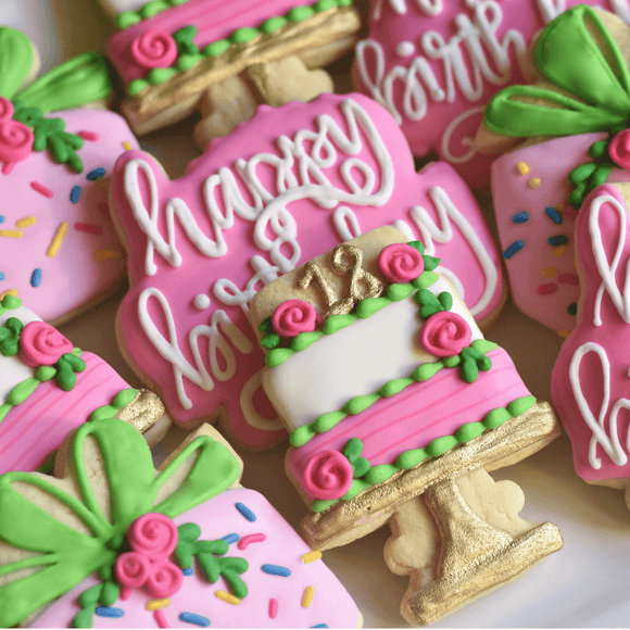 Custom Cookies - Birthday Cookies | Time To Celebrate! - Southern Sugar Bakery