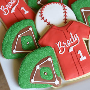 Custom Cookies - Sports: Baseball Cookies | Bases Loaded! - Southern Sugar Bakery