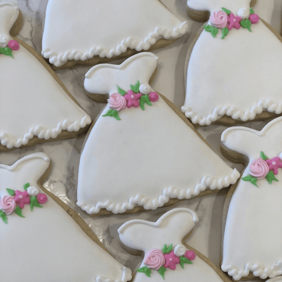Custom Cookies - Wedding | All Dressed in White! - Southern Sugar Bakery
