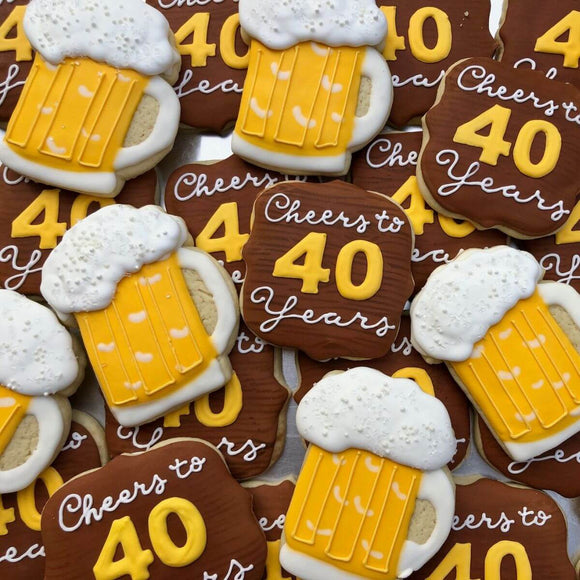 Custom Cookies - Cheers to Another Year! - Southern Sugar Bakery