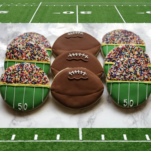 Custom Cookies - Football Cookies | Football Frenzy! - Southern Sugar Bakery