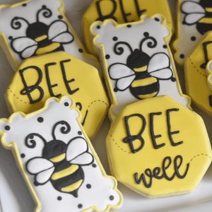 Custom Cookies - Get Well Soon | Bee Well! - Southern Sugar Bakery