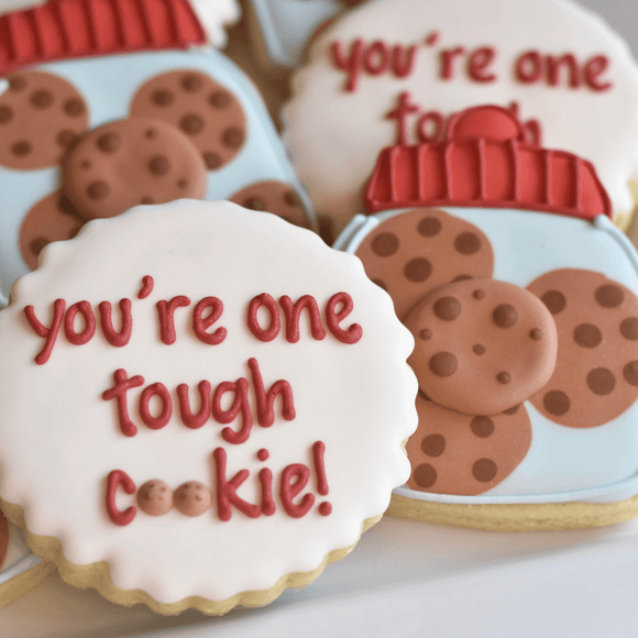 Custom Cookies - Get Well Soon | You're One Tough Cookie! - Southern Sugar Bakery